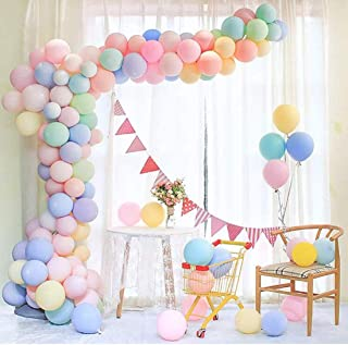 Maxi 100pcs Pastel Latex Balloons 12 Inches Assorted Macaron Candy Colored Latex Party Balloons for Wedding Graduation Kid...