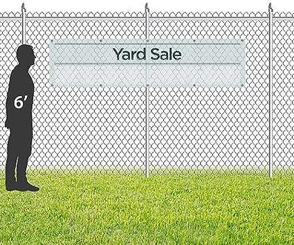 Basic Teal Wind-Resistant Outdoor Mesh Vinyl Banner CGSignLab 12x3 Yard Sale