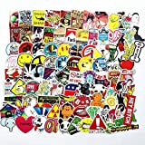 Cleocean Cool Gamer Gifts Water Bottle Stickers PC Case Helmet Laptop Luggage Guitar Case Snowboard Skateboard Decal VSCO Girl Stuff Waterproof Vinyl Stickers (Style-D(100pcs))