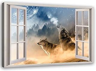 Montagnes Gris 1 Partie 30x40 cm Impression sur Toile D/écoration Murale Image Imprim/ée Arbre Nature Tableau D/éco Rouge Feeby