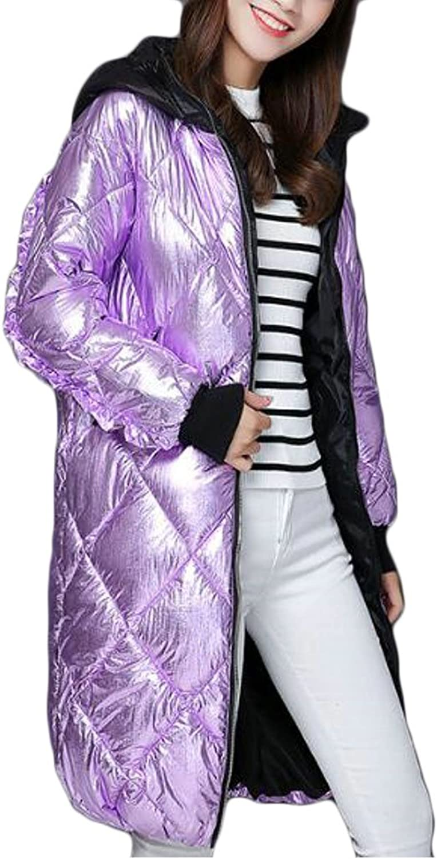Pivaconis Womens Ultra Light Packable Hoodie Winter Down Puffer Jacket Coat