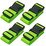 <span class='highlight'><span class='highlight'>BlueCosto</span></span> Luggage Strap Suitcase Straps Belts Travel Accessories, 4-Pack, Green