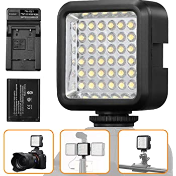 W36 36 LED Video Light Camera Lamp Light Photo Lighting for Cannon//for Nikon//for Sony//for Panasonic Camera Or Camcorder