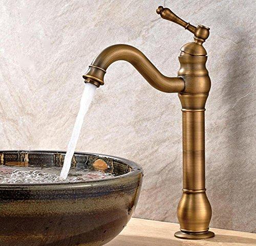 Grifo de cobre envejecido para el hogar, hotel, baño, cocina, lavabo, lavabo, grifo mezclador de agua fría y caliente