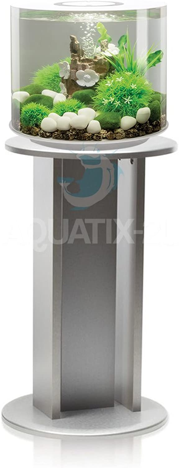 BiOrb TUBE 15L in White with LED Lighting and Silver Stand