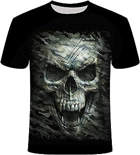 KPII 3D T-Shirt, Esqueleto Gráfica Unisex Camisetas, Casual Hipster Manga Corta, Camisas Deportivas Impreso para Hombres