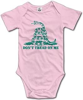 Baby Infants 100% Cotton Short Sleeve Onesies Toddler Bodysuit Don't Tread On Me BabySuits