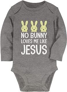 Tstars - No Bunny Loves Me Like Jesus Christian Easter Baby Long Sleeve Bodysuit