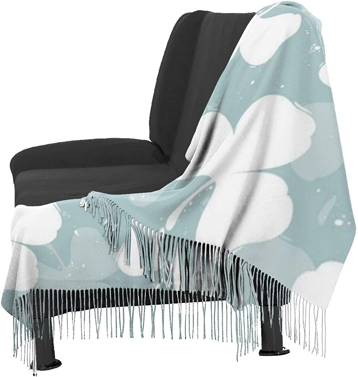 Leaf Clover Cashmere Shawl Wrap Scarf Large Warm Scarf For Women