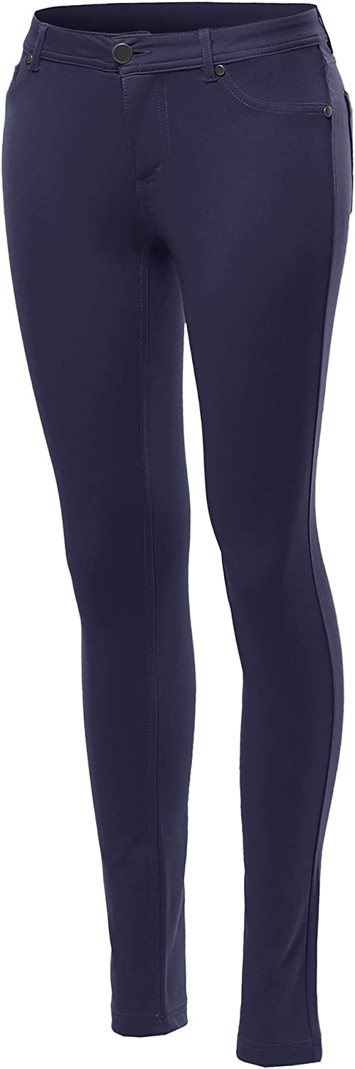 Made by Emma Women's Basic Stretchy Skinny Pants