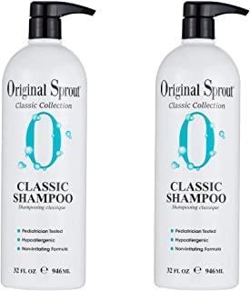 Original Sprout Classic Shampoo. Sulfate Free Shampoo for All Hair Care. 32 Ounces. 2 Pack. (Packaging May Vary)