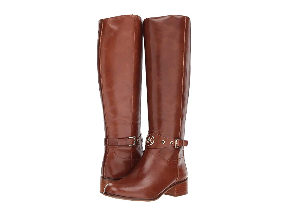 MICHAEL Michael Kors Heather Boot (Dark Caramel Polished Cow Leather) Women