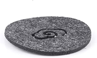 Drink Felt Coaster Round Cup Mat Placemat for Cup Mug Glass Wine Beer Coffee, Tabletop Protection (Black)