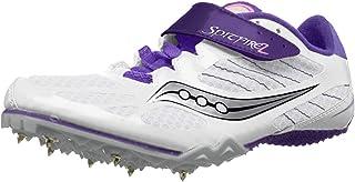 Saucony Women's Spitfire 2, White/Purple, 6 M US
