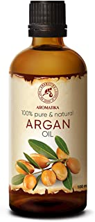 Argan Oil - Argan Oil for Face 3,4 Oz - Organic Argan Oil for Hair - Pure Argan Oil of Morocco - Argania Spinosa Kernel Oil - 100% Cold Pressed Argan Oil 100 ml - by Aromatika
