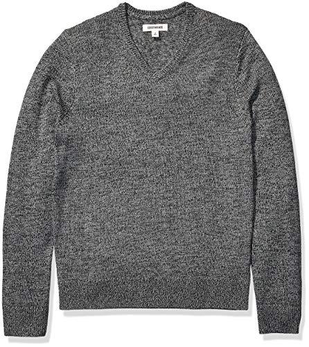Goodthreads Supersoft Marled V-Neck Sweater Pullover-Sweaters, Scarpette a Strappo Voltaic 3 Velcro Kids-Bambini, US XXL (EU XXXL-4XL)