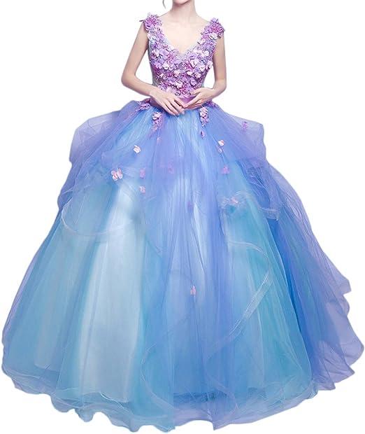 Promgirl House Damen Traumhaft Blumen Prinzessin Ballkleider Abendkleider Festkleider Hochzeitskleider Lang Amazon De Bekleidung