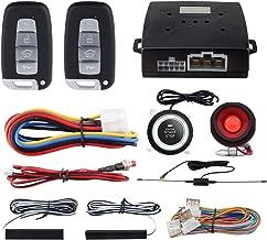 EASYGUARD EC003N-K Car Alarm System keyless Entry pke Remote Engine Start Stop Push Start Stop Automatically Lock or Unlock car Door Universal Version fits for Most dc12v Cars