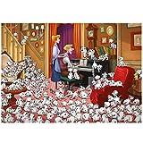 QKKJ 1,000 Rompecabezas para Adultos, 101 Dálmatas, Rompecabezas Familiares, Juguetes Creativos