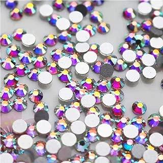 WTX ガラス製 ラインストーン 高品質 1440粒 SS4~SS30 ネイル デコ クリスタル (SS12(約3.0-3.2mm), オーロラ)