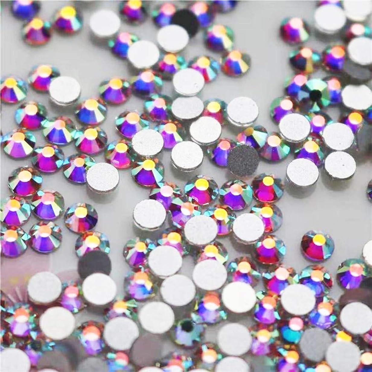 ために胸連続したWTX ガラス製 ラインストーン 高品質 1440粒 SS4~SS30 ネイル デコ クリスタル (SS30(約6.3-6.5mm、288粒), オーロラ)