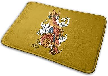 Dragon Carpet Non-Slip Welcome Front Doormat Entryway Carpet Washable Outdoor Indoor Mat Room Rug 15.7 X 23.6 inch