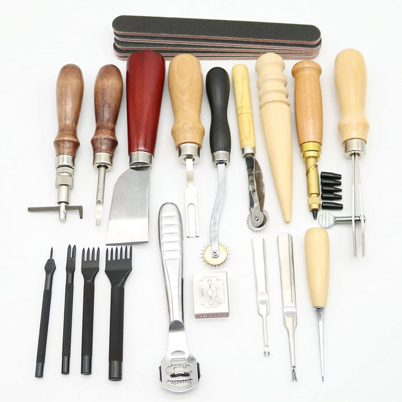 Leder Craft Punch Werkzeug-Set Nähte Carving Arbeiten heftsattels heftsattels heftsattels Fugenfräse 18 B06XC1RMCD | Überlegen  233cc5