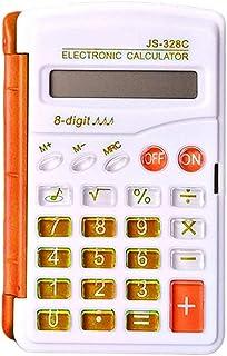 Función Mini Calculadora Student Escuela De La Oficina del Color Caramelo Calculadora Científica Calculadora Reloj Multifuncional (Color : Orange)