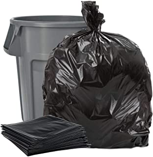Plasticplace Black 40-45 Gallon Trash Bag, 40x46, 1.5 Mil, 100 Bags Per Case