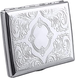 OGARC Desirable Mini blank silver hinged tobacco storage survival tin None Smoke Cigarette Pot