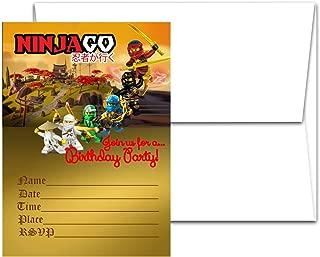 12 The NINJAGO MOVIE Birthday Invitation Cards (12 White Envelops Included) #1