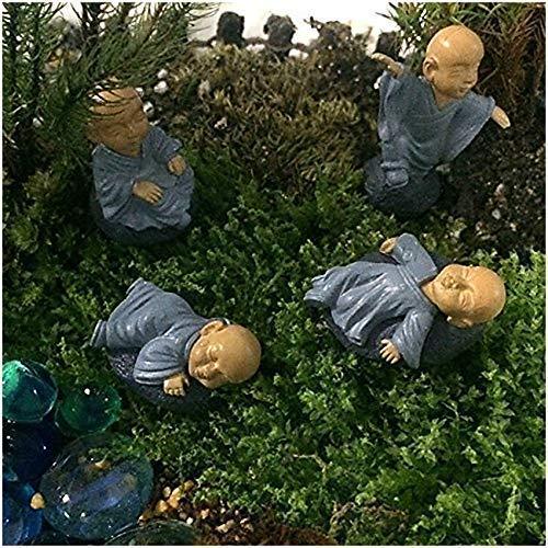 Musykrafties moine Zen Garden miniature 4 en Lot, Bleu