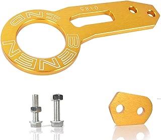 HENGSHENG EIOU Rear Tow Towing Hook for Universal Car Auto Trailer Ring Aluminum Racing Trailer Hook-Golden