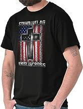 Stand Flag Kneel Cross Christian American T Shirt Tee