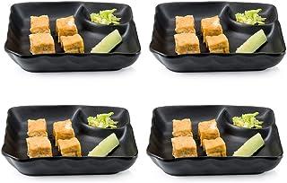 Japanese Restaurant Melamine Teriyaki Plate 8 x 5.5 inches New