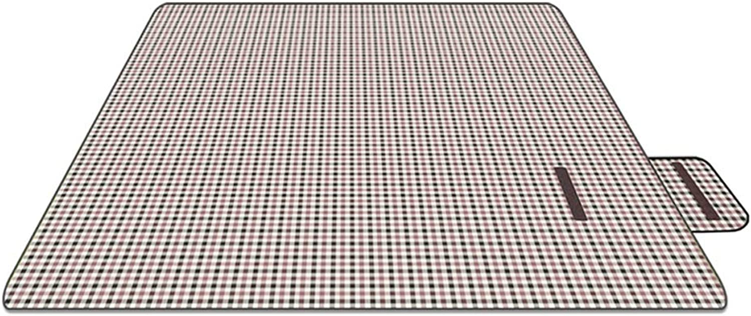 FH Picnic Mat, Outdoor Portable Padded Spring Picnic Picnic Outing Picnic Wild Beach Mat, 200 × 150cm PVC Waterproof Back (color   C)