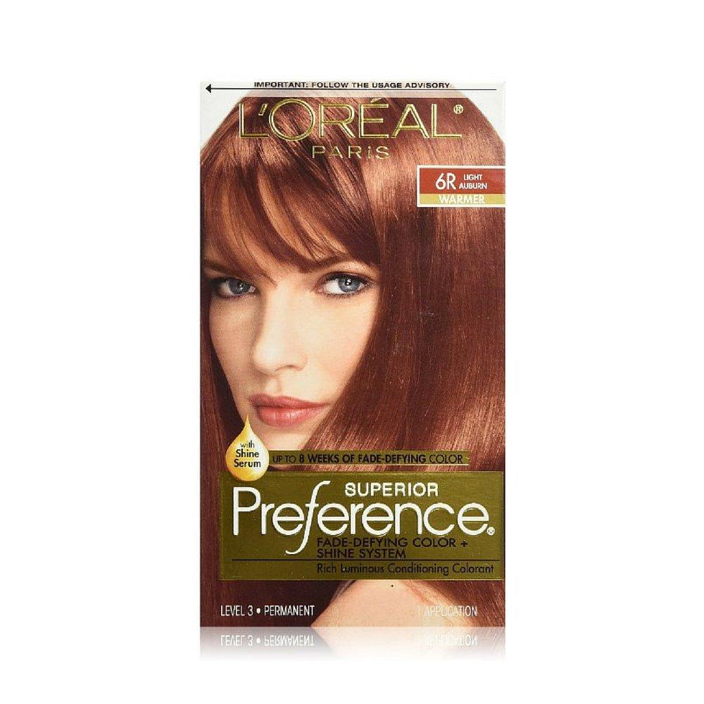 L'Oreal Washington Mall Superior Preference Hair Color 6R - Light 1 Ea Classic Auburn