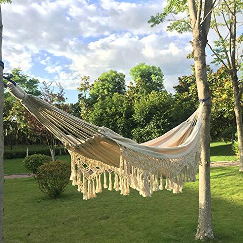 SHARESUN Acampar Hamaca Portátil De Doble Hamacas De Algodón Ligero Hamacas A La Mochilero, Viaje, Playa, Patio Trasero, Patio, Senderismo, 200 * 150Cm