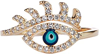 Creative jewelry lucky eye ring open ring adjustable ring for women