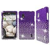 Empire Mpero Diamante - Cover con Strass per LG Optimus G E970, Colore: Argento/Viola