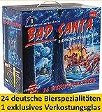 Kalea Bier-Adventskalender 2019   Edition Bad Santa   24 Deutsche Bier-Spezialitäten und 1 exklusivem Verkostungsglas   24 x 0,33 l Flaschen