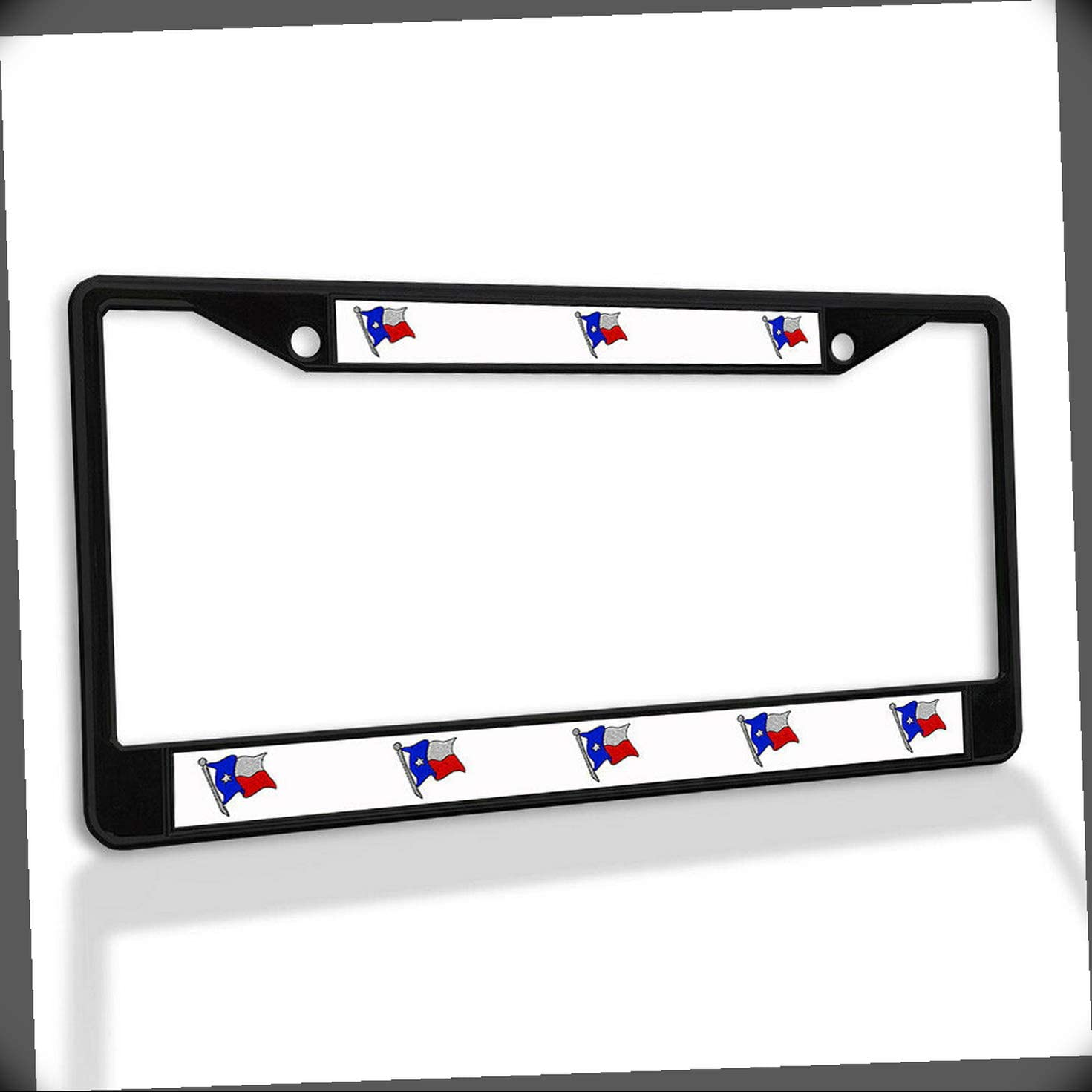 New License Plate Frame Texas Superior State Flag All items in the store Car Insert Metal Raised