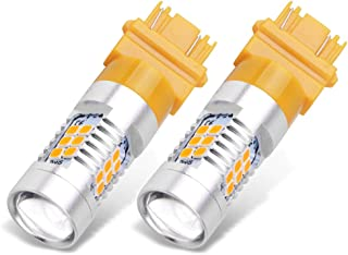 YITAMOTOR 4157 3457 LED Bulb Amber for Turn Signal Light, 3157 3457a 3157na 3156 led Replacement Bulb for Car Truck Motorcycle, 12V-24V, 2-Pack