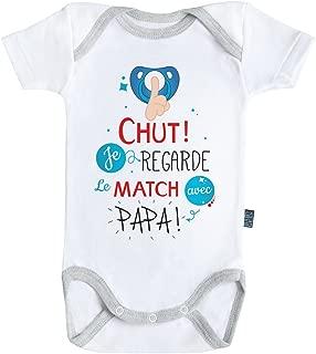 Coton Coutures grises Parent Baby Geek The little baby theory Body B/éb/é manches courtes Blanc
