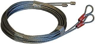 MSPowerstrange Two Garage Door Cables 1700 lb Breaking Strength for Torsion Spring 12' Long Door(162