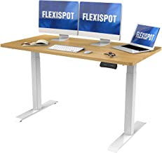 FlexiSpot Dual Motor Electric Standing Desk, 55 x 28 Inches Stand Up Adjustable Desk, Home Office Table Standing Desk Conv...