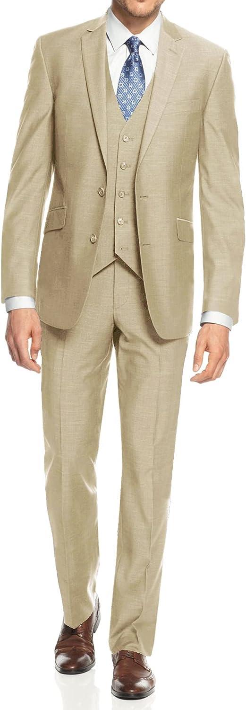 Braveman Men's 3-Piece Three Piece Slim Fit Cut Suit with Vest. Pants & Jacket