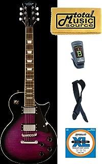 Oscar Schmidt OE20 Vintage Style Electric Guitar, Trans Purple Burst, OE20FTPB KIT