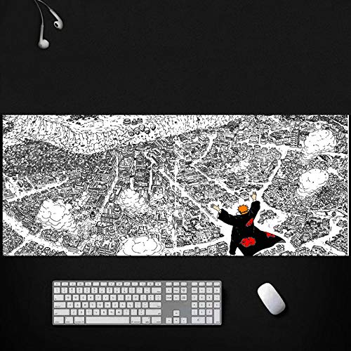 Tonjaberg Stitched Edge Mouse pad/Naruto Pain Animation Mouse pad/XL Gaming Mouse pad Non-Slip/Anti-Dirty/Waterproof Mouse pad 31.4inch×11.8inch
