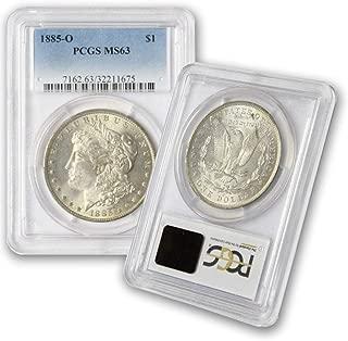 1885 O Morgan Silver Dollar $1 MS63 PCGS Light Toning